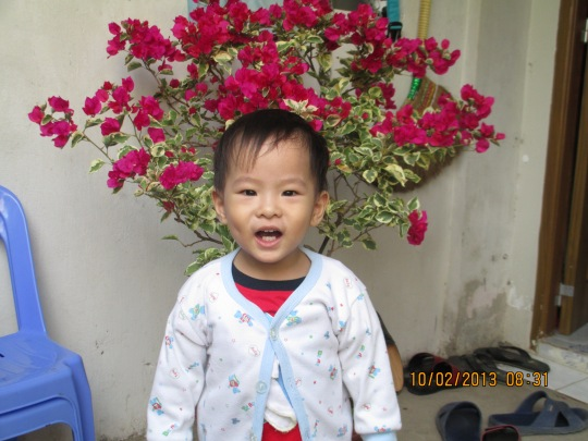 bé Minh Khôi 23 tháng tuổi
